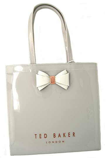 5d87f268e Ted Baker  Alacon  Bow Detail Icon Shopper Bag Size Large in Grey   Amazon.co.uk  Shoes   Bags