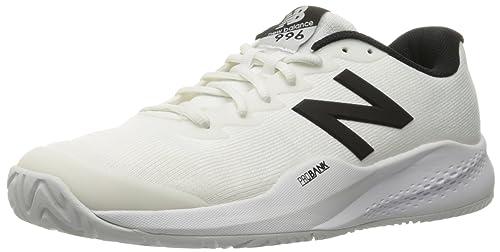 New Balance Mens mc996v3 Tennis Shoe, White/Black, ...