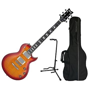 Ibanez ARZ serie arz200fmcrs guitarra eléctrica w/de madera de cerezo rojo funda de bolsa y soporte: Amazon.es: Instrumentos musicales