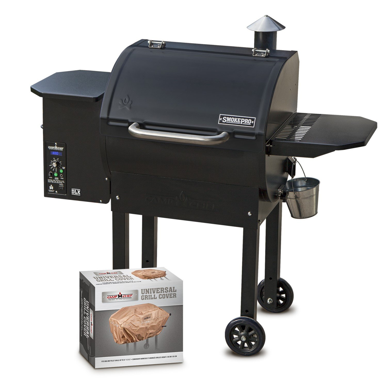 Camp Chef SmokePro DLX PG24 Pellet Grill with Patio Cover - Bundle (Full Cover) by Camp Chef