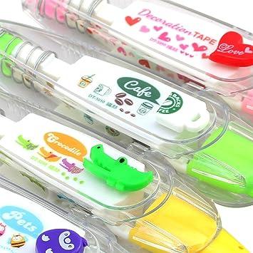 gr/ün Amoyer DIY Dekorative Correction Tape F/ür Scrapbooking Gru/ßkarte Schreiben Tagebuch Briefpapier School Supplies