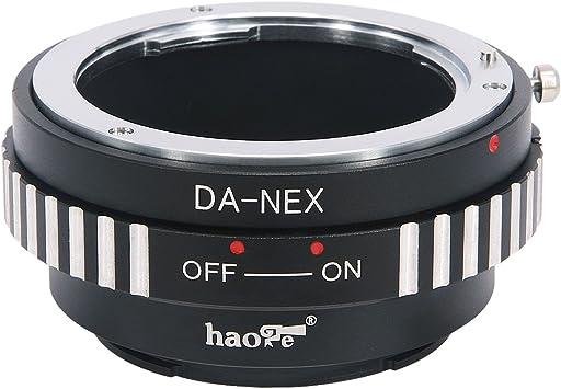 Haoge Lens Mount Adapter for Pentax K PK Mount Lens to Sony E Mount NEX Camera a3000 a3500 a5000 a5100 a6000 a6400 a6500 A7 A7R A7S A7II A7RII A7SII A7III A7RIII A9 VG10 VG20 VG30 VG900 FS700 FS7 FS5