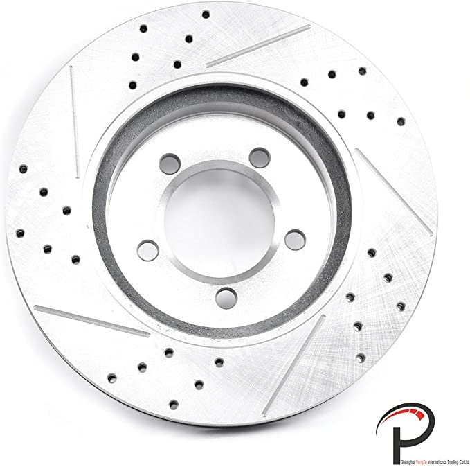 VioletLisa 2pcs Front Left Right Drilled Slotted Vented Brake Rotor Disc 5 lugs for Ford 1995-2001 Explorer 1998-2002 Ranger /& Mazda 1998-2002 B3000 B4000 Pickup /& Mercury 1997-2001 Mountaineer 4WD