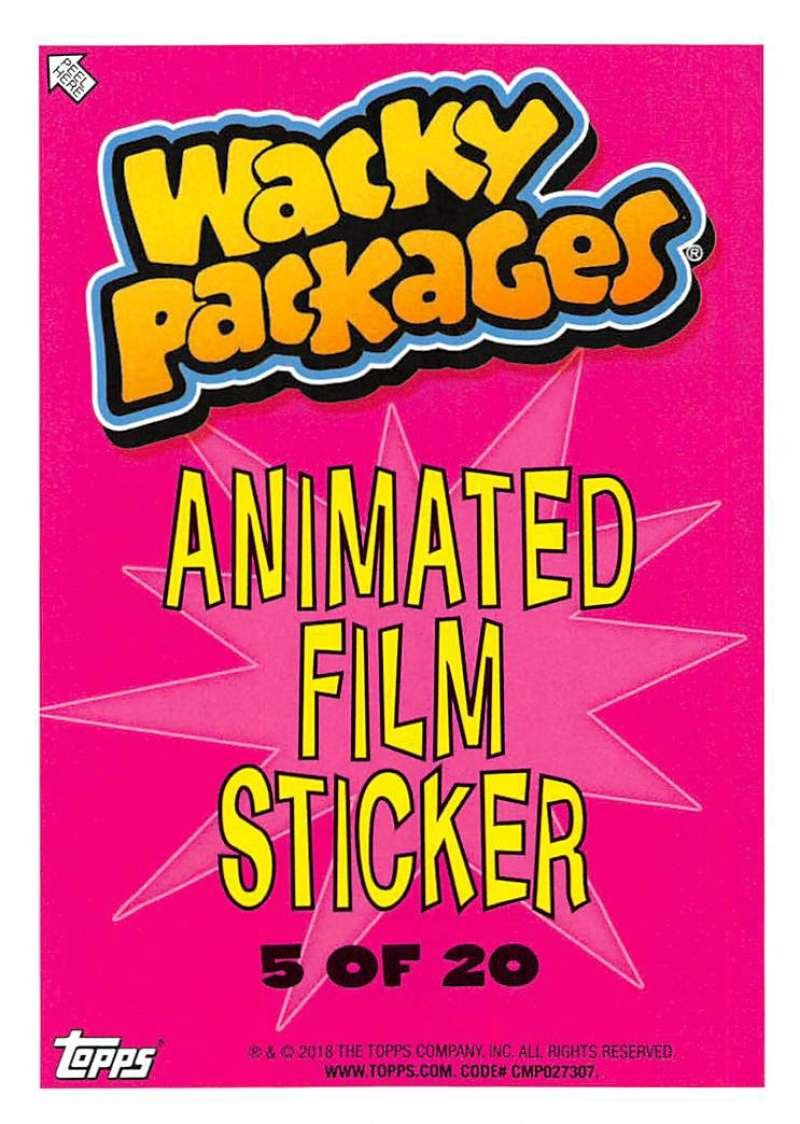 2018 Topps Wacky Packages Go to the Movies Animated Film