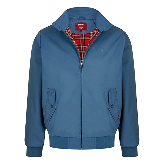 Merc Chaqueta Harrington - ACERO blue-small: Amazon.es: Ropa ...