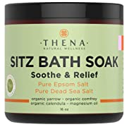 Best Organic Sitz Bath Soak For Natural Postpartum Care Recovery & Hemorrhoid, Soothe Relieve Pain Reduce Discomfort, 100% Pure Epsom & Dead Sea Salts Witch Hazel Lavender Essential Oil