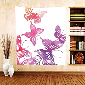 Amazon.com: Gzhihine Custom tapestry Abstract Tapestry Ombre Design ...