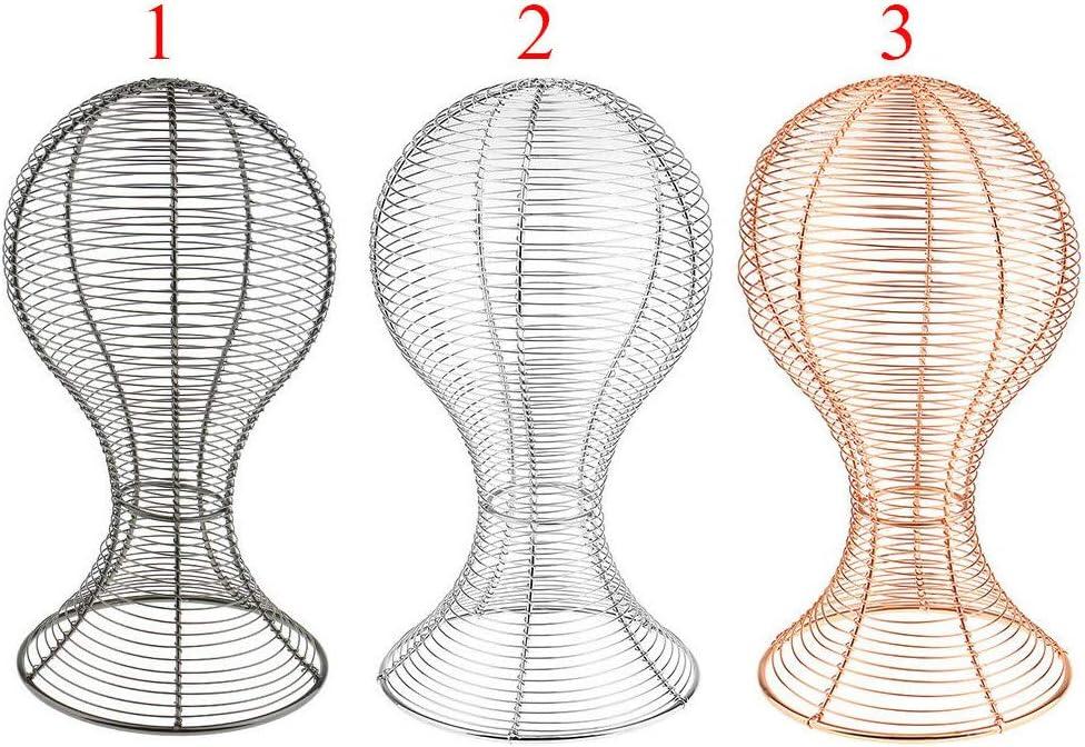 Cheveux Casquettes Pink Gold Fer Perruques hefeibiaoduanjia Support de Rangement en m/étal pour Casquettes