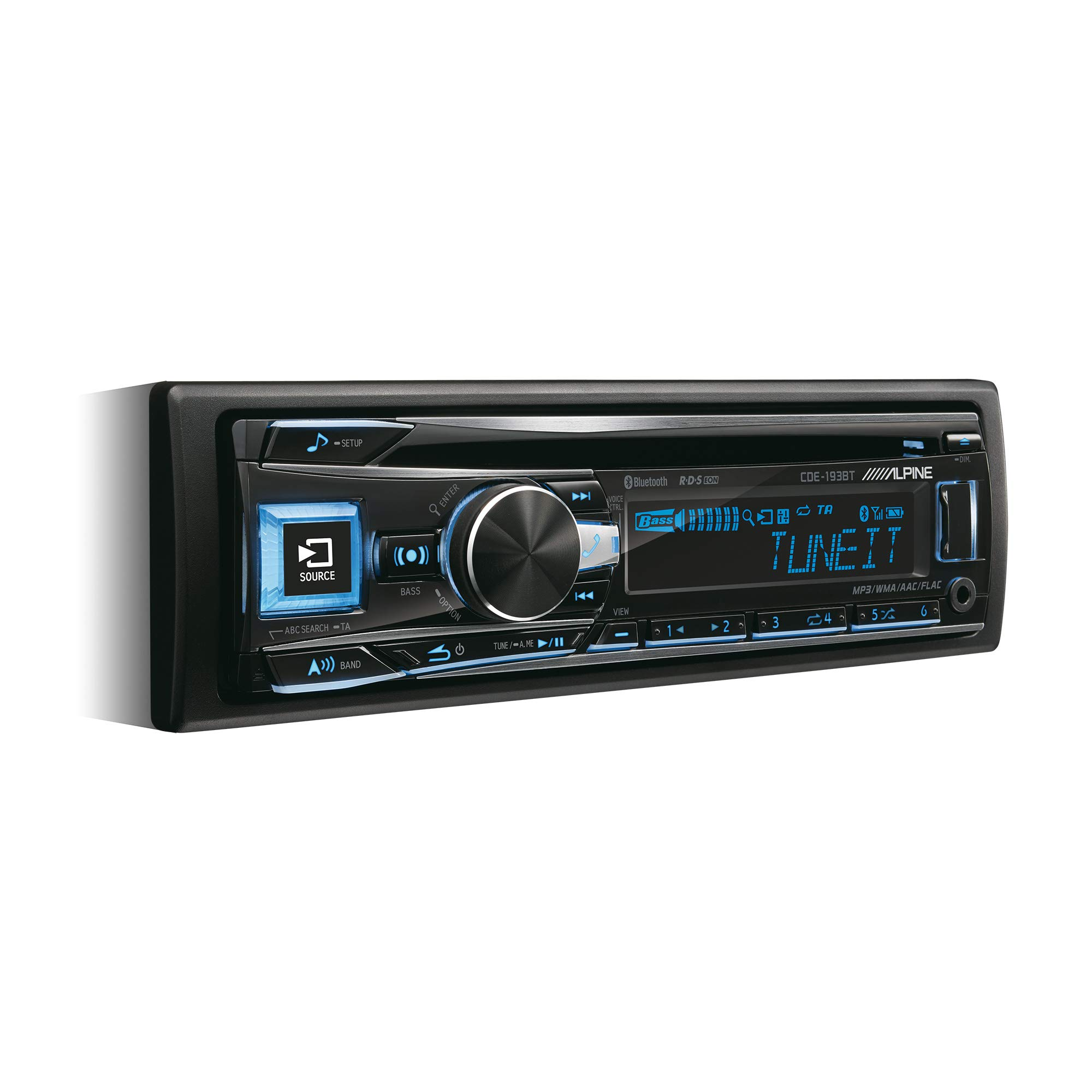 Alpine CDE-193BT Autoradio Bluetooth avec CD/MP3/USB Frontal et entrées AUX product image