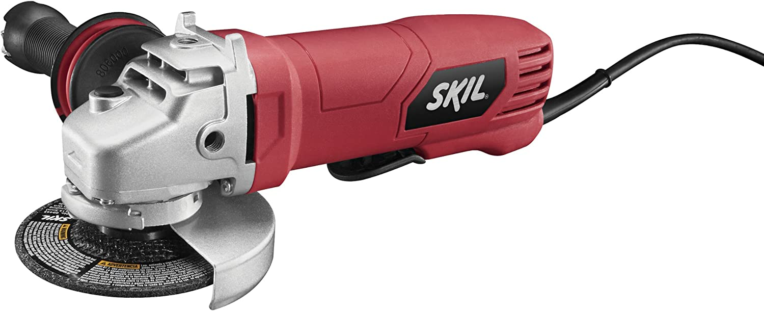 "SKIL 7.5-Amp 4 ½"" Paddle Switch Angle Grinder"
