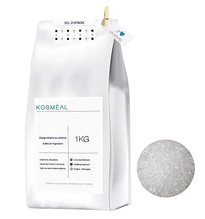 Sal de Epsom, Sulfato De Magnesio - 1KG - Baño Y Cuidado Personal - Embalaje