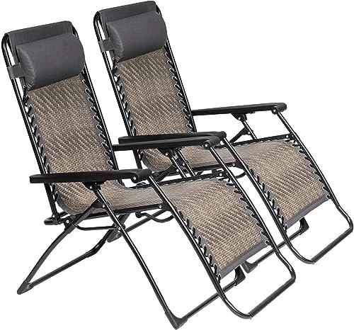 SOLAURA Adjustable Portable Rattan Lounge Outdoor Chair Zero Gravity Folding Wicker Recliner - a good cheap outdoor recliner