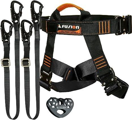 Fusión Climb Tactical Edition adultos Comercial Kit Zip Line Arnés ...