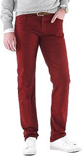 NEW PARK Herren Straight Leg Hose Rot rot
