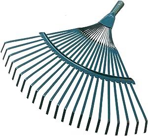 DENPETEC Shrub Rake Head Only Courtyard Rake Head Garden Tool Portable 22 Toothed Steel Wire Grass Agriculture Garden Hand Rake