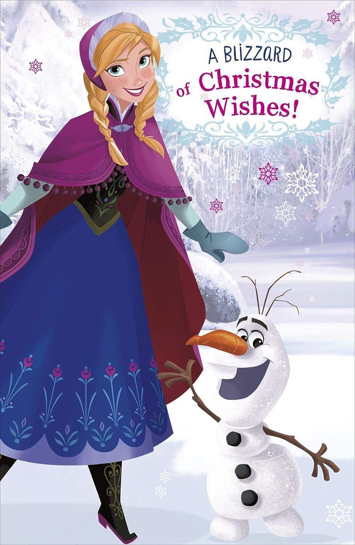 Disney Froze Blizzard de Navidad deseos abierta tarjeta de ...