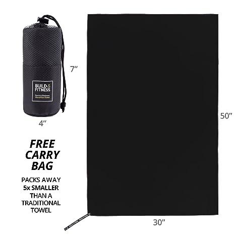 Toalla de microfibra. Gimnasio toalla, toalla de baño, de secado rápido, muy absorbente, ligero, compacto, antibacteriano. Fitness, al aire libre, camping, ...