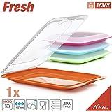 Plasticos Tatay 1180001 - Portaembutidos hermetico y Alimentos Fresh, 1 Unidad en Diversos Colores , Medidas 17 x 3.2 x 25.2 cm