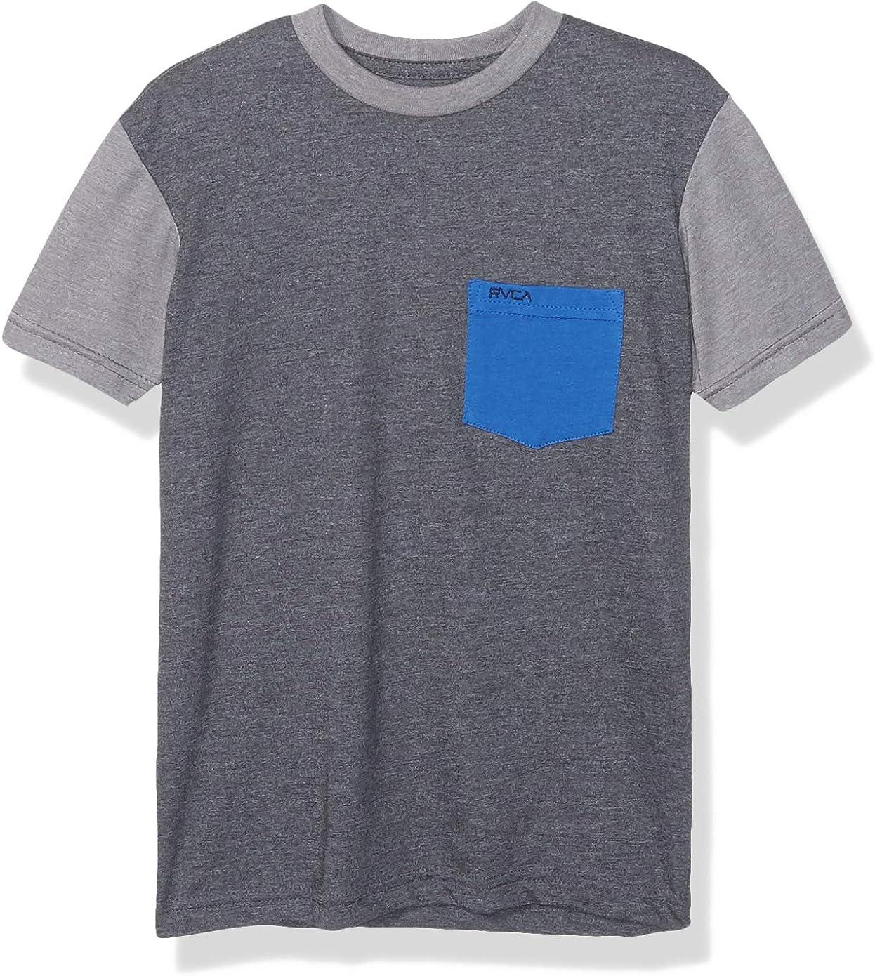 RVCA Boys Ollie Color Block Short Sleeve Crew Neck Pocket T-Shirt Shirt