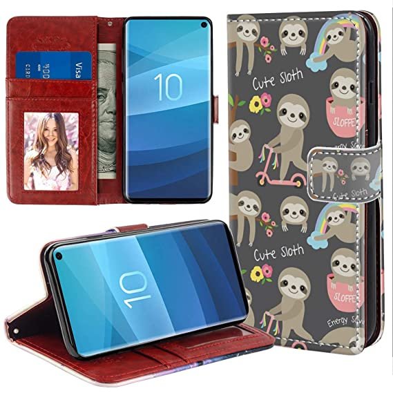 low priced 2c065 6babd Amazon.com: Wallet Phone Case Compatible for Samsung Galaxy S10e ...