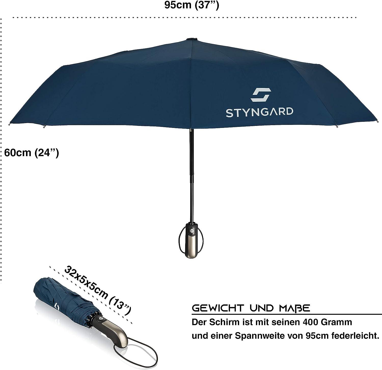 Schirm-Tasche /& Reise-Etui DE STOCK inkl Regenschirm sturmfest bis 140 km//h