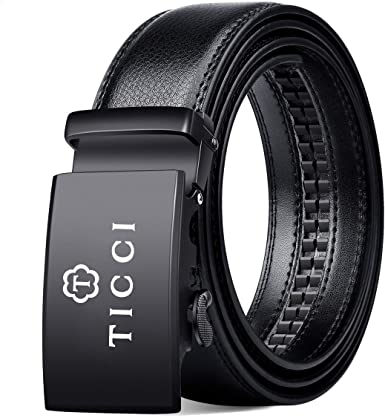 Real Leather Business Mens Belt Business Fashion Automatic Buckle Belt