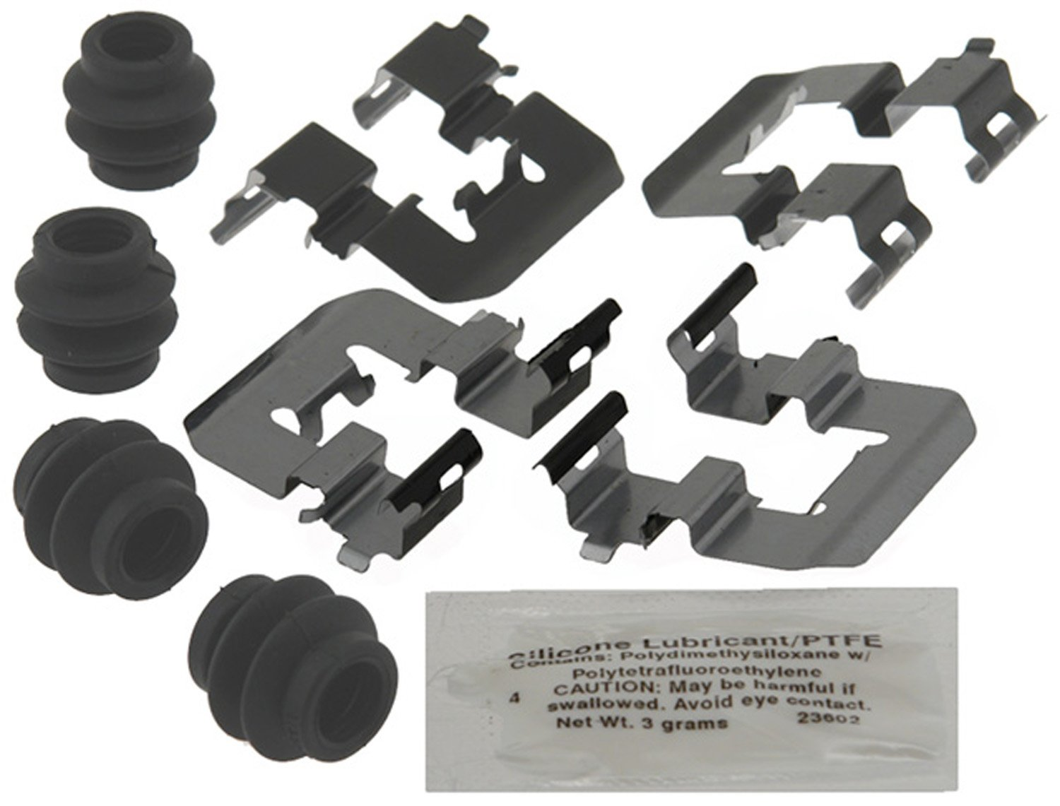 and Lubricant Seals ACDelco 18K1983X Professional Rear Disc Brake Caliper Hardware Kit with Clips