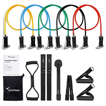 Fitness Equipments Resistance Band Set 17pcs Gym Strength Training Rubber Loops Band Workout Fintess Exercise Bands Door Anchor Ankle Strap In Many Styles
