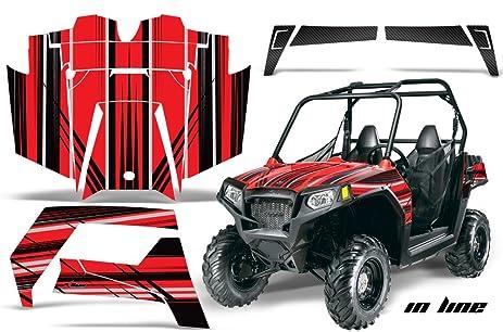 Amrracing polaris ranger rzr 570 all years full custom utv graphics decal kit inline black