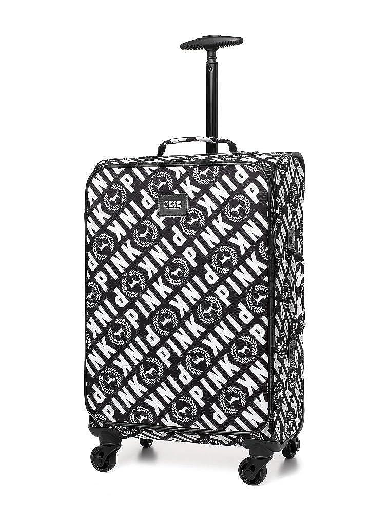 fc6024c4867c Victoria's Secret PINK WHEELIE Suitcase Carry on Travel Luggage Black &  White
