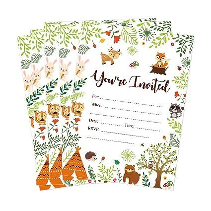 Amazon.com: CC Home Woodland - Tarjetas de invitación para ...