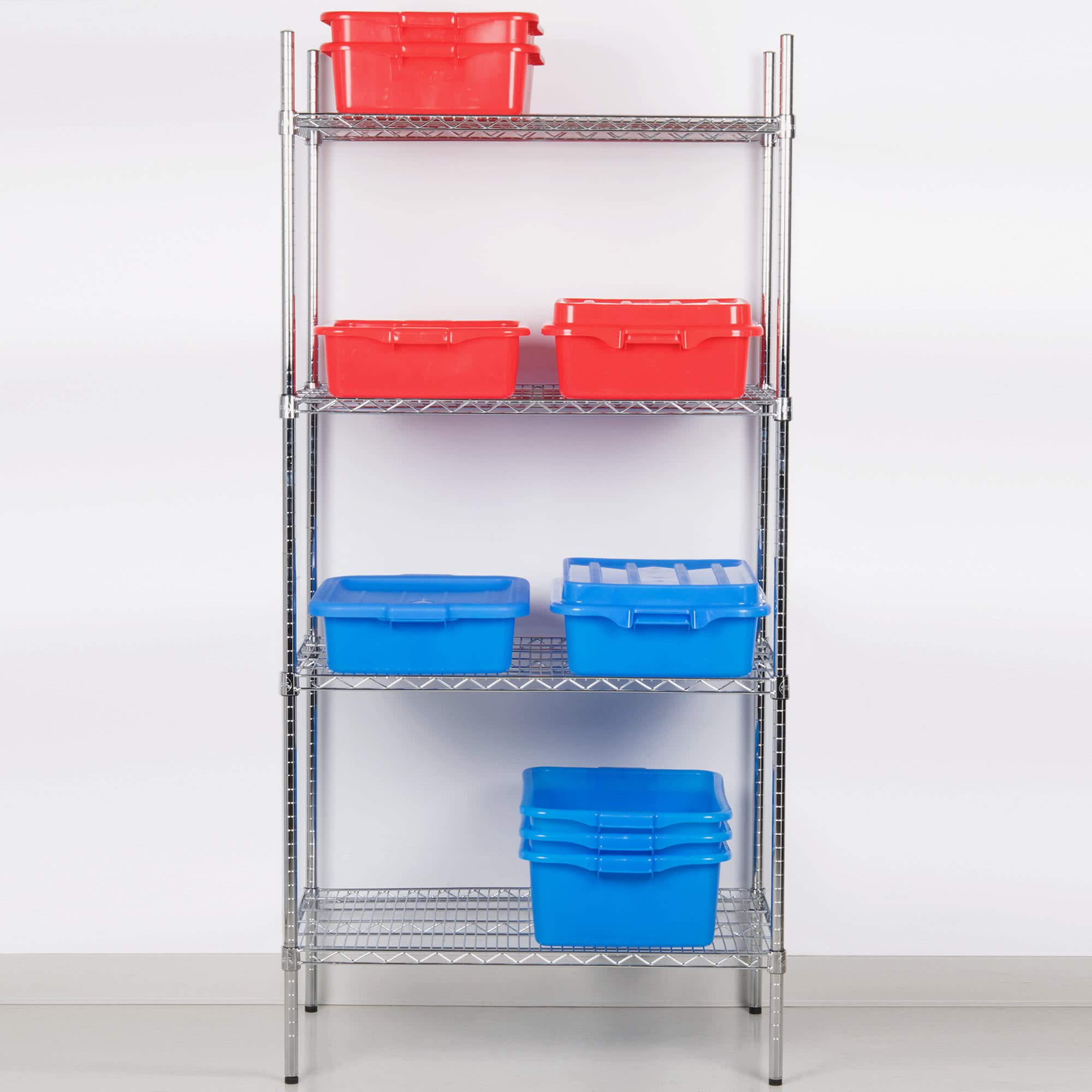L and J Commercial Chrome Wire Shelving 18 x 48 - NSF (2 Shelves) by L and J
