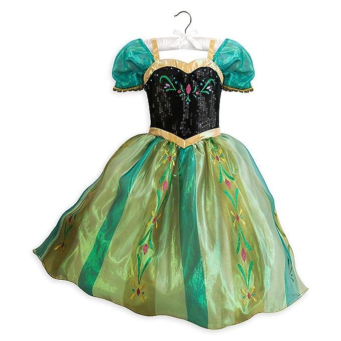 Disney Frozen Dress Up Anna Costume for Girls Kids Coronation Princess (Size 9/10  sc 1 st  Amazon.com & Amazon.com: Disney Frozen Dress Up Anna Costume for Girls Kids ...