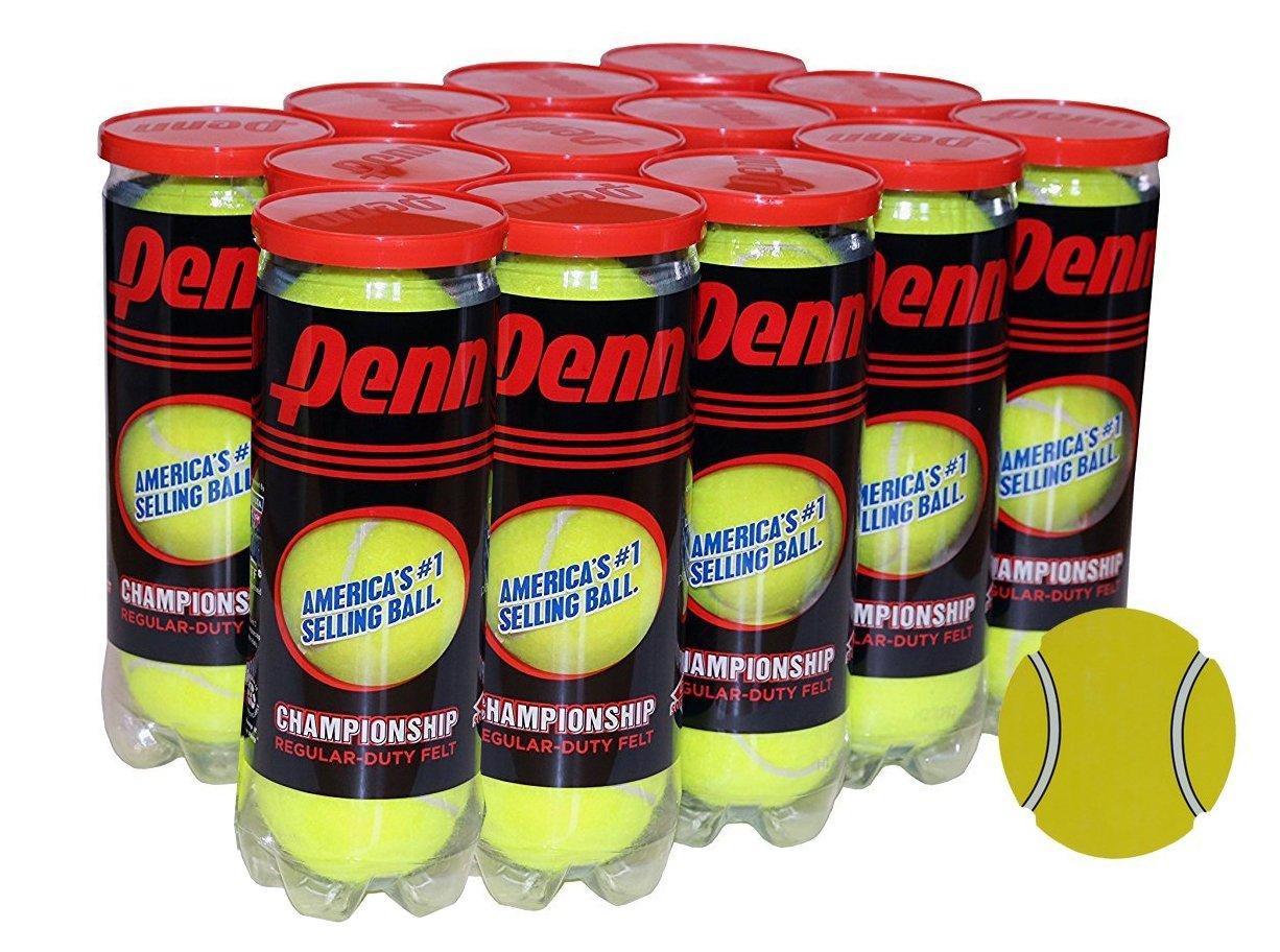 Penn Championship Regular Duty Tennis Balls- Acer's Dozen, 13 Cans (39 Balls) Bundle with Exclusive InPrimeTime Tennis Ball Magnet