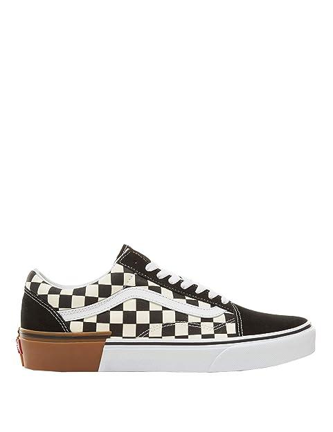 White 44 Old Checkerboard Skool gum 8g1u58 Block Vans Eu Black Yq1gw8v