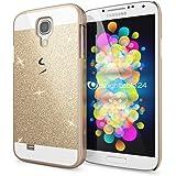 Samsung Galaxy S4 Coque Protection de NICA, Ultra-Fine Glitter Housse Slim Hardcase Paillettes Cover, Etui Rigide Anti-choc Strass Bumper Mince pour Telephone Portable Samsung S4 - Gold Or