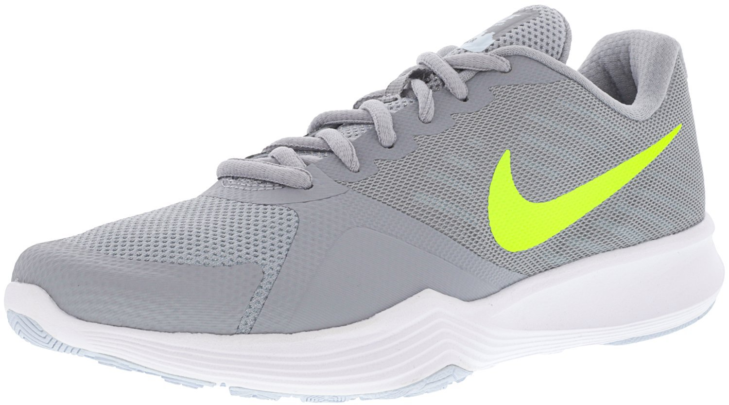 NIKE Women's City Cross Trainer B06X3XHDKL 7.5 B(M) US|Wolf Grey/Volt-glacier Blue