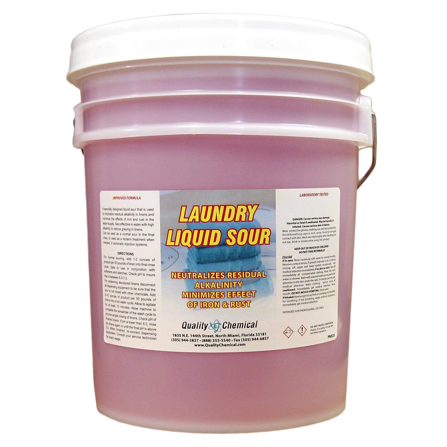 Commercial Laundry Sour-5 Gallon Pail by Quality Chemical