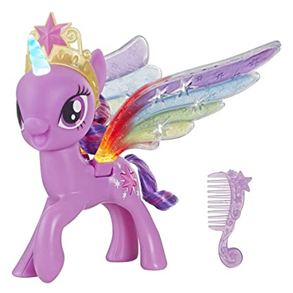 910f066983a Amazon.com  My Little Pony Rainbow Wings Twilight Sparkle -- Pony Figure  with Lights   Moving Wings  Toys   Games