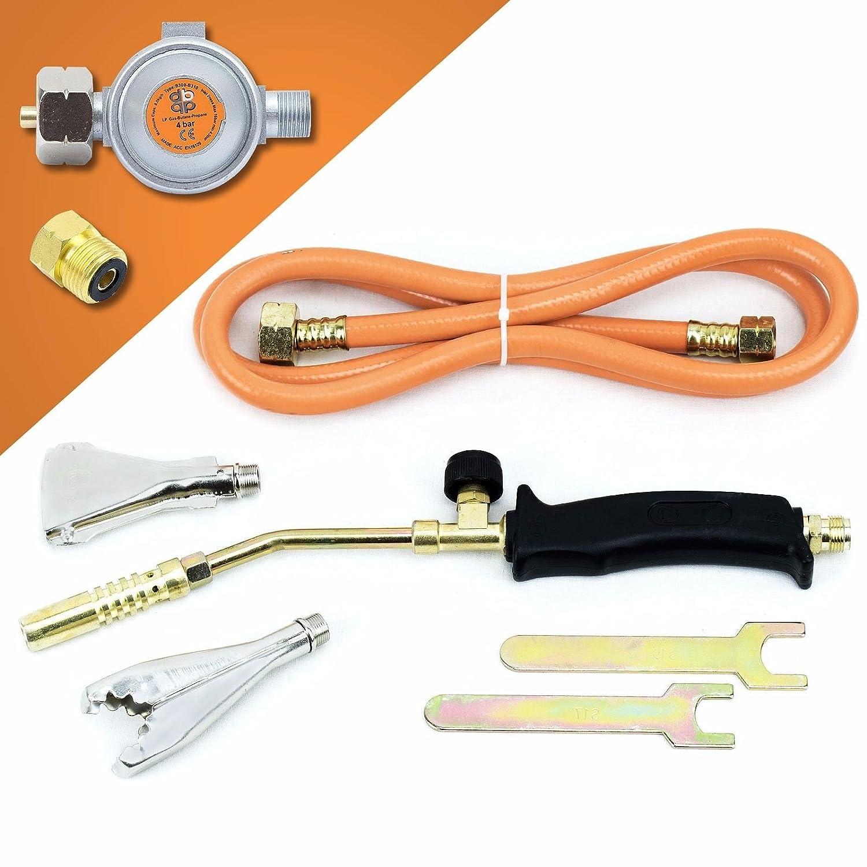 Gasbrenner Handlötset Lötbrenner Handlötgerät Lötkolben Gasdruckregler SN0284R Sellnet