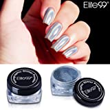 UPGRADED Holographic Laser Nail Chrome Powder - Elite99 Shiny Rainbow Pigment Nail Glitter Effect Nail Art DIY Manicure Salon Tips 1g/Box with Sponge Stick