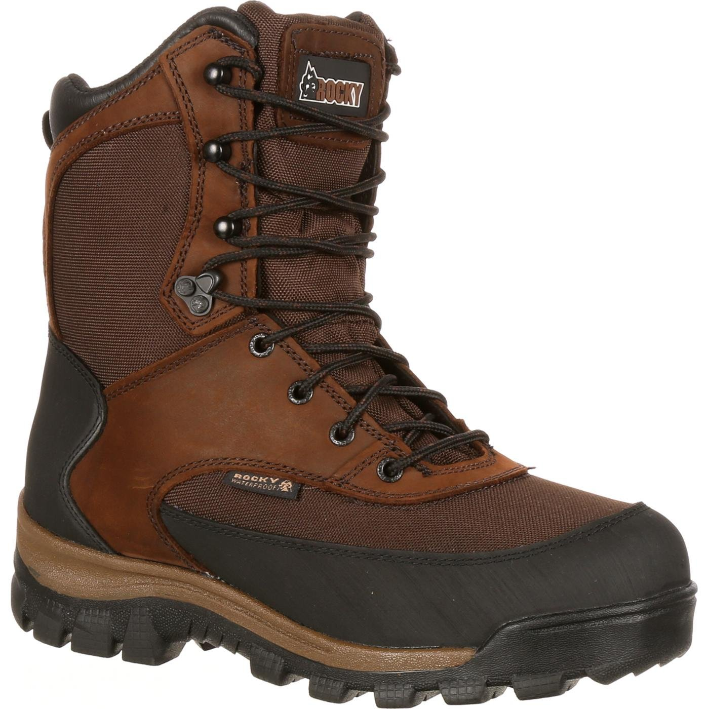 Rocky Men's FQ0004753 Mid Calf Boot, Dark Brown, 11.5 W US