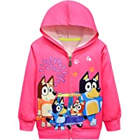 AOVCLKID Toddler Little Girls Hoodie Zip Sweatshirt Kids Coat Cartoon Jacket Outwear