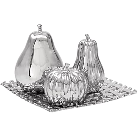 Amazon.com: Urban Designs Ceramic Lattice Fruit Bowl Centerpiece ...
