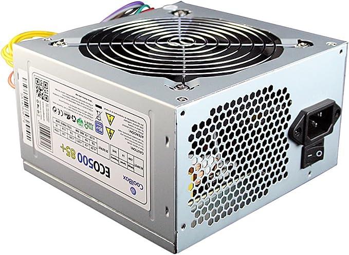 CoolBox COO-FA500E85 - Fuente de alimentación, Color Negro: Coolbox: Amazon.es: Informática