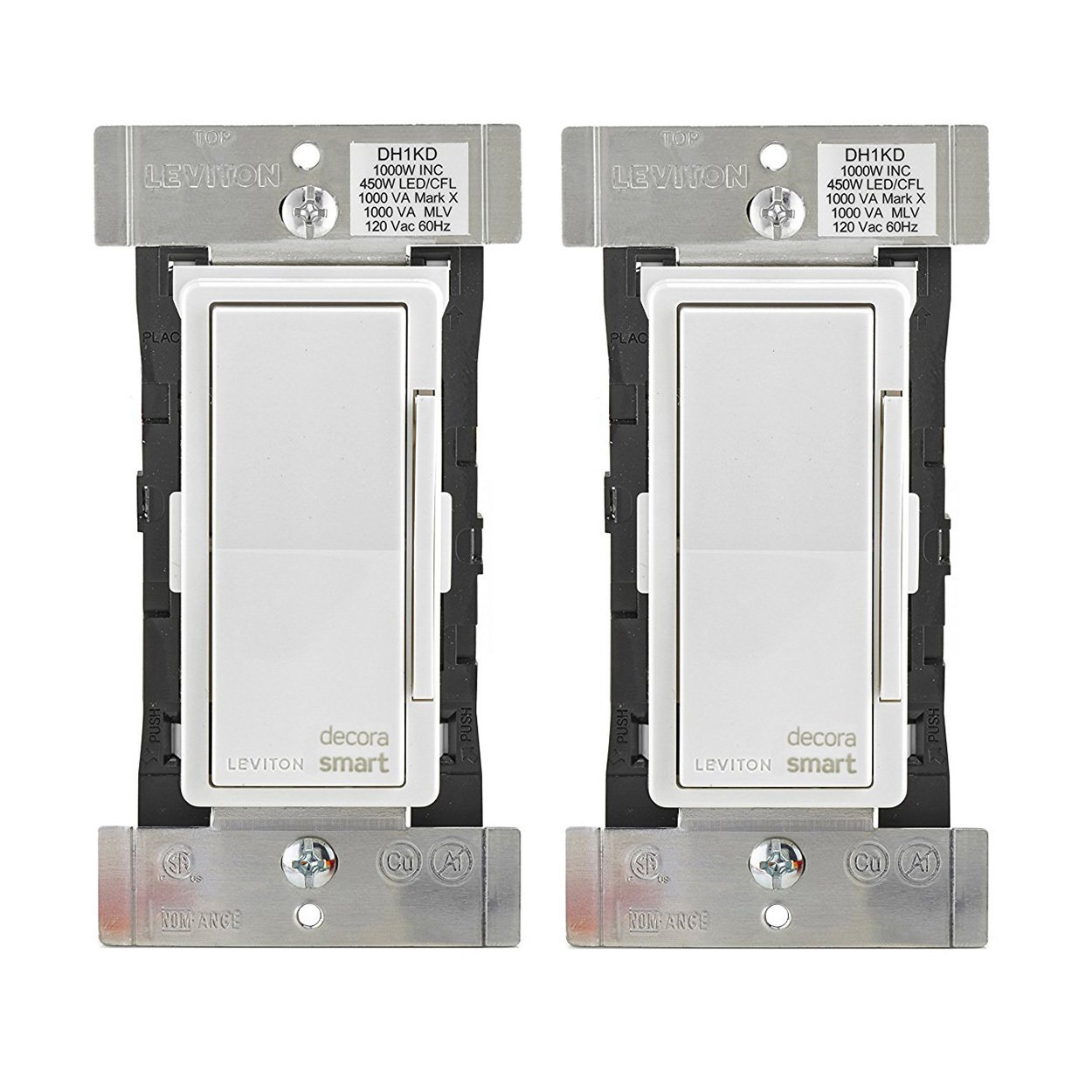 Leviton DH1KD-1BZ 1000W Decora Smart Dimmer, Works with Apple HomeKit (2 Pack)
