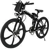 Edited Ebike Vélo Electrique Pliable Adulte Pliant 26'' Vitesses Jusqu'à 30 km/h avec Batterie Lithium-Bicyclette Vélo Pliable