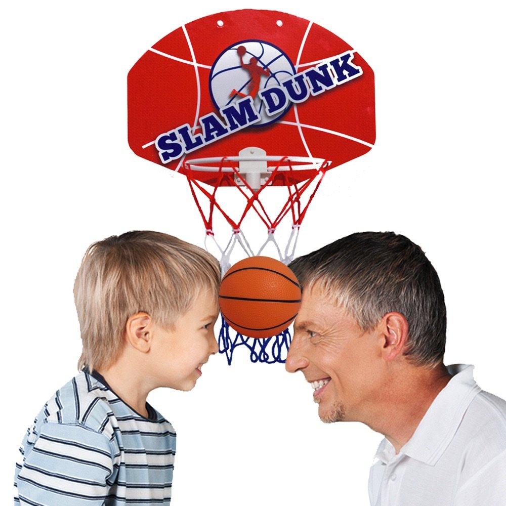 Slam Dunk Mini Basketball Hoop Set  Over The Door Plastic Toy Backboard 14 X ... Spielzeug für draußen