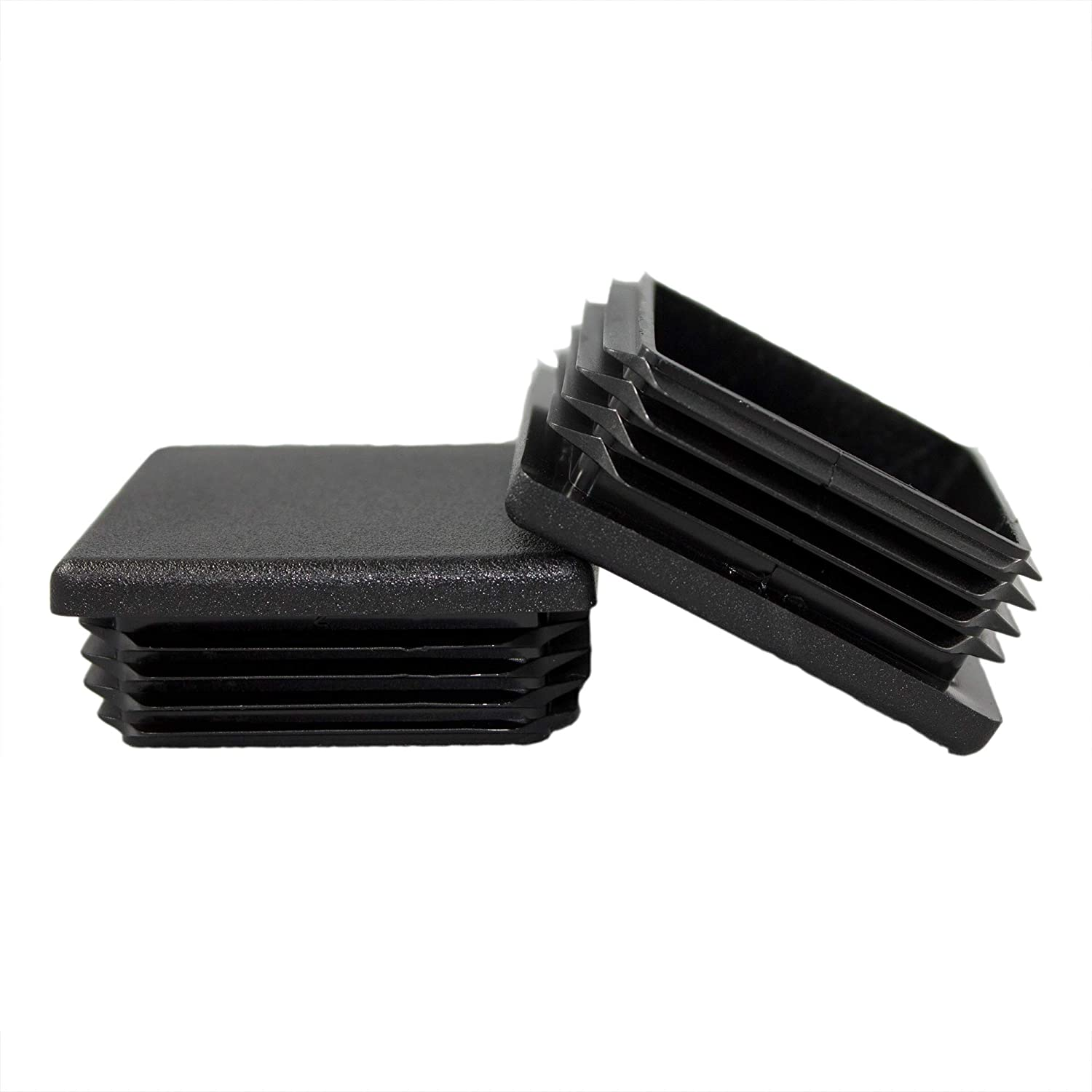 4 Pack - 2' Square Tubing Black Plastic Plug, 2 Inch End Cap 2'x2' 2x2 Fence Post Pipe Cover Tube Chair Glide Insert Finishing Plug 2 Inch End Cap 2x2 2x2 Fence Post Pipe Cover Tube Chair Glide Insert Finishing Plug PVB413