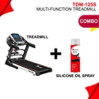 Powermax Fitness TDM-125S (2.0 HP), Smart Run Function, Auto Lubrication, Motorized Treadmill for Cardio Workout